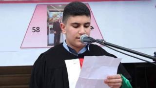 الطالب الفلسطيني اسماعيل عجاوي