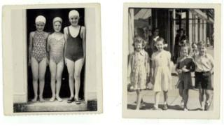 Found photos of children in Millport