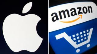 Apple ve Amazon logoları