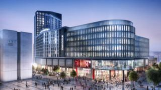 Artist's impression of the new Cardiff bus station
