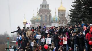 تجمع معترضین به فساد در مسکو