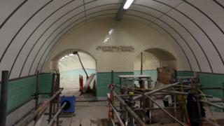 The tunnel entrances