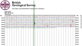 Earthquake in Newdigate on 27 February 2019
