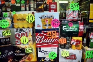 Alcohol off-sales fall in first year of minimum pricing