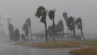 Fuertes vientos en Padre Island