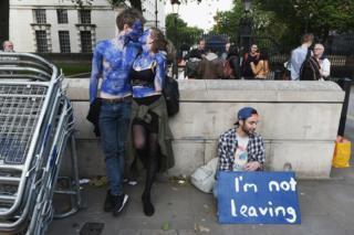 Manifestantes contra Brexit