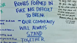 Condolence message: Bonds formed in fire are difficult to break - our community will always stand together.