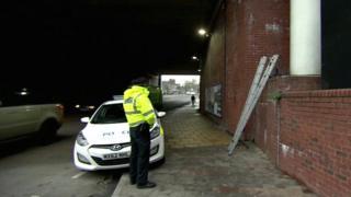 Crime scene Trinity Way Salford