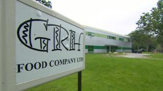 GHR Food Company LTD sign, Minffordd, Gwynedd