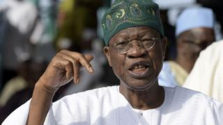 Nigeria Minister of Information and Culture, Lai Mohammed