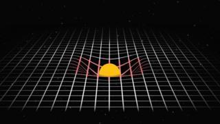 Representación de la gravedad como curvatura del espacio-tiempo