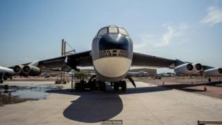 B-52 bomber that launched the first space plane