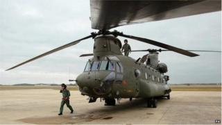 Chinook at RAF Odiham