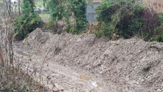 Dug up river bed