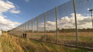 Lindholme perimeter fence