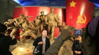 北京一场纪念红军长征的展览(资料图片)