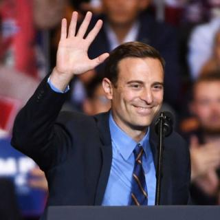 Mr Laxalt spoke at a campaign rally for President Donald Trump in September