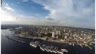 Imagem aérea de Manaus