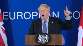 UK PM Boris Johnson, 17 Oct 19
