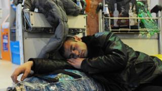 Спящий в Домодедове