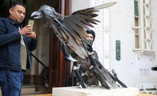 """Phoenix"" bird sculpture"
