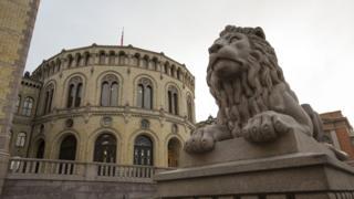 Norway parliament building