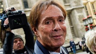 Sir Cliff Richard arriving at the High Court on 13 April 2018