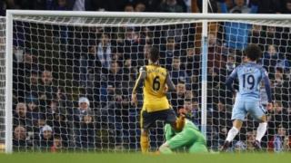 Leroy Sane ya zura kwallo a ragar Arsenal