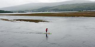 Paddle boarder Carl Habrel
