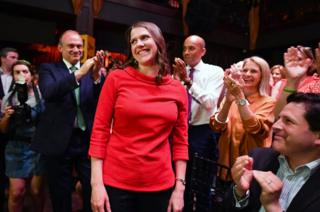 Jo Swinson is named as the new leader of the Liberal Democrats at Proud Embankment