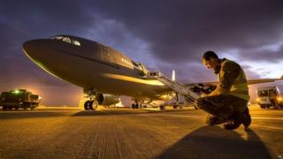 RAF Voyager plane