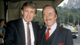 Donald Trump y Fred Trump en 1988