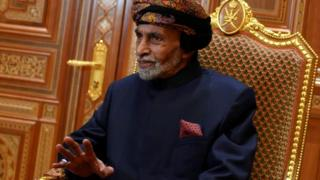 Sultan Qaboos of Oman at the Beit al-Baraka palace in Muscat, Oman (14 January 2019)