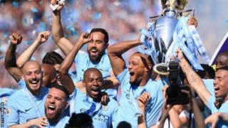 Mu mwaka ushize w'imikino, Manchester City yabaye ikipe ya mbere yo muri Premiere League igejeje ku manota 100