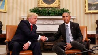 Обама менен Трамп шайлоодон эки күн өткөндөн кийин Ак үйдө жолугушуусу