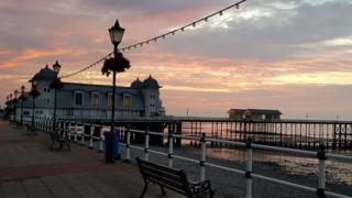 Phil Jones captures a moment of total tranquillity at Penarth Pier at sunset