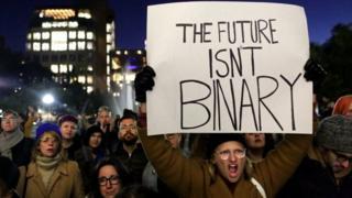 Una manifestación en Nueva York