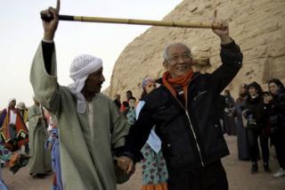 Церемония в египетском храмовом комплексе Абу-Симбел