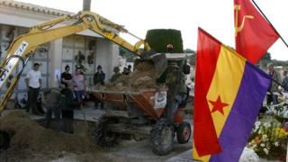 Exhumation at Porreres (pic: Miquel Barcelo, Arabalears)