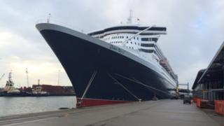 Queen Mary 2 in Southampton, file pic