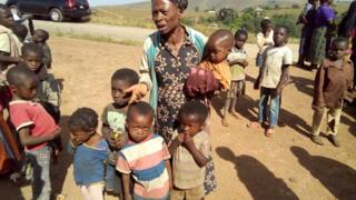 Most of di children for dis refugee camp dem na orphans dia mama and papa dem don die for dis palava.