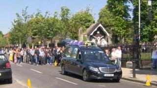 Gareth Hutch funeral cortege