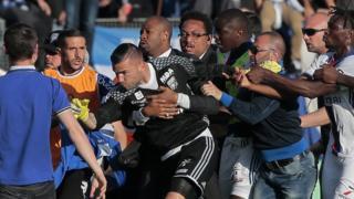 Bastia-Lyon arrêté à la suite d'échauffourées