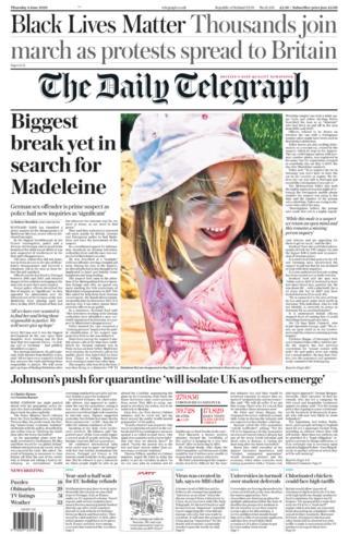 Daily Telegraph 4 June