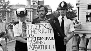Jeremy Corbyn being arrested