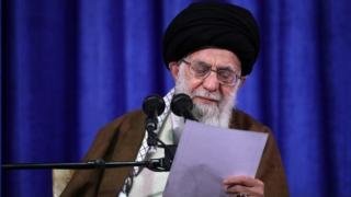 رهبر ایران یک روز بعد از سخنان دونالد ترامپ در جمع فرهنگیان سخنرانی کرد