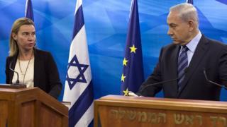 Беньямин Нетаньяху и Федерика Могерини