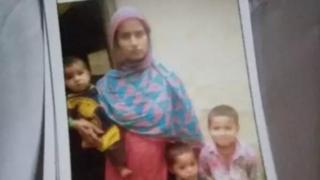 Sagheer Ansari's family in a file photo