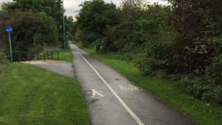 The cycle path in Stockton where a 15-year-old girl was raped