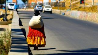 Уличная сценка в Боливии